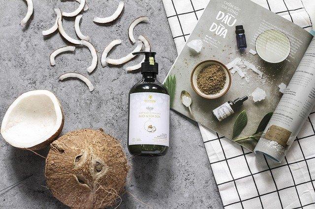 kokos i szampon naturalny